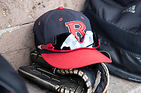 Rutgers Scarlet Knights hat on April 26, 2019 at Ray Fisher Stadium in Ann Arbor, Michigan. Michigan defeated Rutgers 8-3. (Andrew Woolley/Four Seam Images)