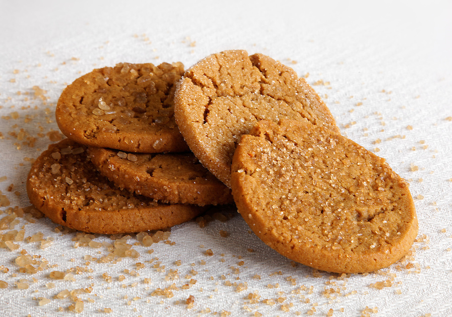 Stack of Swedish ginger cookies, by pastry chef Laurie Pfalzer, Pastry Craft