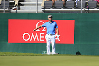 Soren Kjeldsen (DEN) at the 18th green during Saturday's Round 3 of the 2018 Omega European Masters, held at the Golf Club Crans-Sur-Sierre, Crans Montana, Switzerland. 8th September 2018.<br /> Picture: Eoin Clarke | Golffile<br /> <br /> <br /> All photos usage must carry mandatory copyright credit (&copy; Golffile | Eoin Clarke)