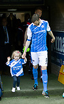 St Johnstone v Ross County…12.05.18…  McDiarmid Park    SPFL<br />Murray Davidson and daughter summer walk on the pitych before kick off<br />Picture by Graeme Hart. <br />Copyright Perthshire Picture Agency<br />Tel: 01738 623350  Mobile: 07990 594431
