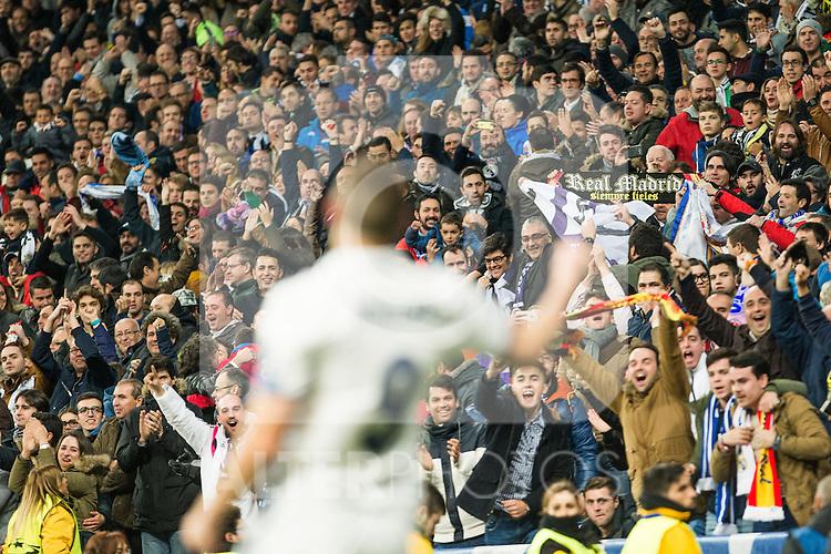 Real Madrid's Karim Benzema during Champions League match between Real Madrid and Borussia Dortmund  at Santiago Bernabeu Stadium in Madrid , Spain. December 07, 2016. (ALTERPHOTOS/Rodrigo Jimenez)