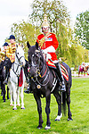 Day 2. Royal Windsor Horse Show. Windsor. Berkshire. UK.  Behind the scenes with the Mounted Band of the Household Cavalry and the Household Cavalry Mounted Regiment. Major Craig Hallatt. Director of Music. 10/05/2018. ~ MANDATORY Credit Elli Birch/Sportinpictures - NO UNAUTHORISED USE - 07837 394578