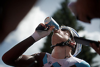 Jan Bakelants (BEL/Ag2r-LaMondiale) hydrating properly after a hot stage<br /> <br /> Stage 18 (ITT) - Sallanches &rsaquo; Meg&egrave;ve (17km)<br /> 103rd Tour de France 2016