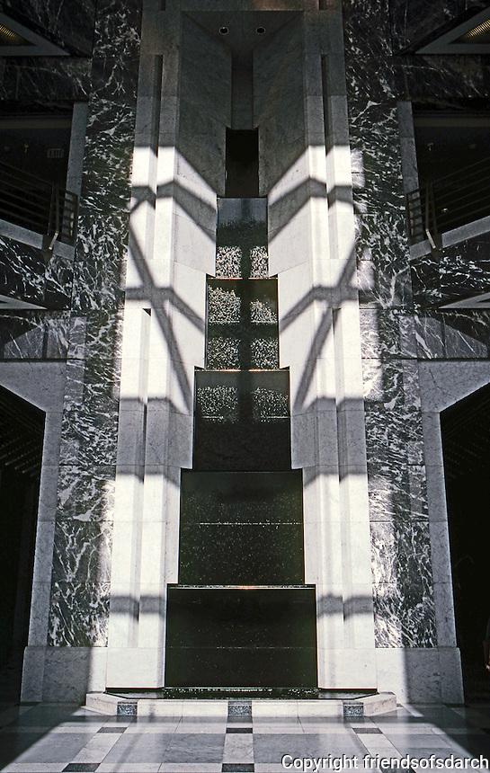 Helmut Jahn: One America Plaza, San Diego 1991. Entrance.  Photo '92.