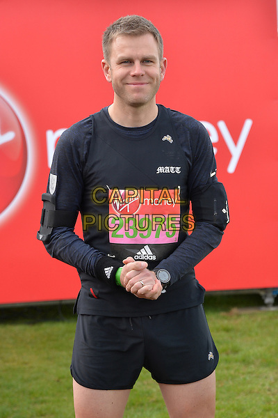 LONDON, ENGLAND - APRIL 24   Matt Barbet at the start of the 2016 Virgin Money London Marathon on Blackheath in London, England. 24th April 2016.<br /> CAP/JWP<br /> &copy;JWP/Capital Pictures