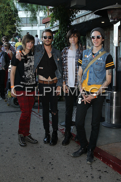 "BILLY BOY ON POISION (JESS CALCATERRA, JACOB PILLOT, GREG WEST, DAVIS LEDUKE).arrives to the Sunset Strip Music Festival's ""Tribute to Slash"" at the House of Blues Sunset Strip, in recognition of the City of West Hollywood's official 'Slash Day'.West Hollywood, CA, USA. August 26, 2010. ©CelphImage"