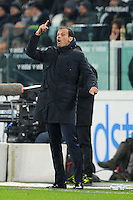 Calcio, quarti di finale di Tim Cup: Juventus vs Milan. Torino, Juventus Stadium, 25 gennaio 2017.<br /> Juventus coach Massimiliano Allegri gestures during the Italian Cup quarter finals football match between Juventus and AC Milan at Turin's Juventus stadium, 25 January 2017.<br /> UPDATE IMAGES PRESS/Manuela Viganti