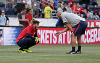 Chester, PA - Monday May 28, 2018: Alexander Bono, Matt Reis during an international friendly match between the men's national teams of the United States (USA) and Bolivia (BOL) at Talen Energy Stadium.