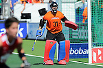 The Hague, Netherlands, June 08: During 2nd half during the field hockey group match (Women - Group B) between USA and Germany on June 8, 2014 during the World Cup 2014 at GreenFields Stadium in The Hague, Netherlands. Final score 4-1 (1-0) (Photo by Dirk Markgraf / www.265-images.com) *** Local caption *** Jackie Kintzer #31 of USA