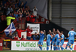 Scott Wright with the Aberdeen fans after goal no 3