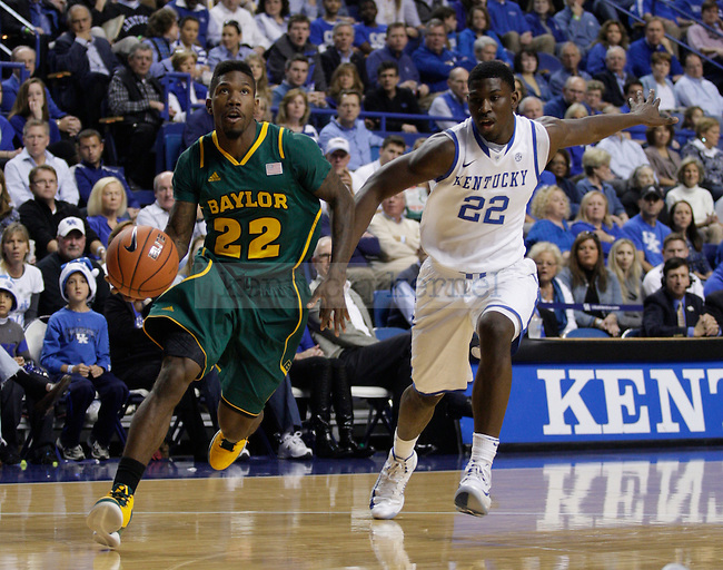 Alex Poythress guards A.J. Walton during the first half of the game between the University of Kentucky and Baylor University, on Saturday, Dec. 1, 2012 at Rupp Arena, in Lexington, Ky. Photo by Latara Appleby | Staff