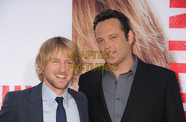 Owen Wilson, Vince Vaughn<br /> at the Los Angeles Premiere of &quot;The Internship&quot; at Regency Village Theatre in Westwood, California, USA, May 29th, 2013.<br /> portrait headshot navy blue suit tie grey gray <br /> CAP/ROT/TM<br /> &copy;Tony Michaels/Roth Stock/Capital Pictures