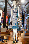 Irene Bordeaux dress shown at the Catherine Martin and Muccia Prada Dress Gatsby display at Prada store in SOHO, NYC May 4, 2013.