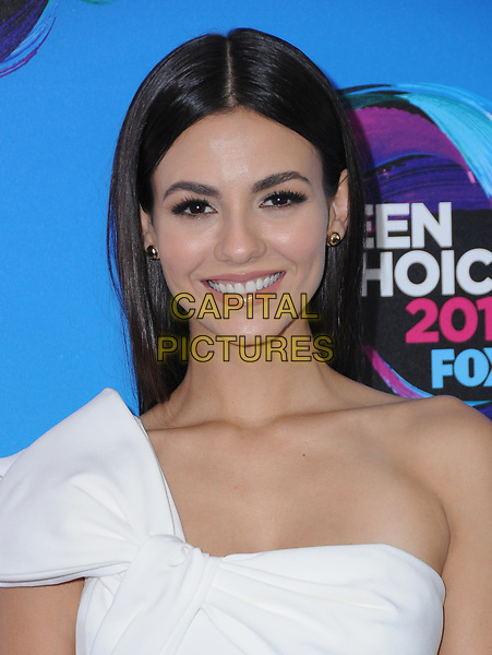 13 August  2017 - Los Angeles, California - Victoria Justice. Teen Choice Awards 2017 held at the Galen Center in Los Angeles. <br /> CAP/ADM/BT<br /> &copy;BT/ADM/Capital Pictures