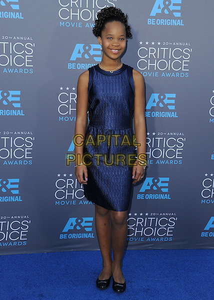 LOS ANGELES, CA - JANUARY 15:  Quvenzhane Wallis at the 20th Annual Critics' Choice Movie Awards at the Hollywood Palladium on January 15, 2015 in Los Angeles, California.  <br /> CAP/MPI/PGSK<br /> &copy;PGSK/MediaPunch/Capital Pictures