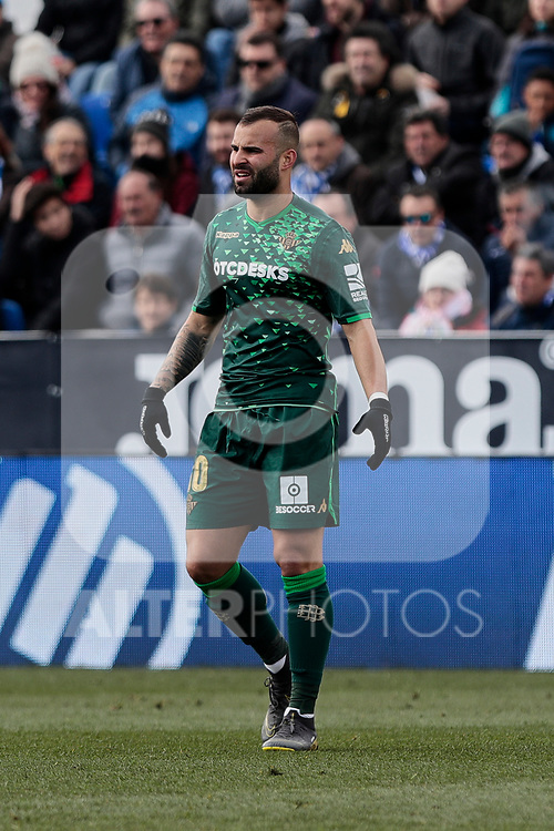 Real Betis Balompie's Jese Rodriguez during La Liga match between CD Leganes and Real Betis Balompie at Butarque Stadium in Madrid, Spain. February 10, 2019. (ALTERPHOTOS/A. Perez Meca)