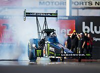 Feb 1, 2018; Chandler, AZ, USA; NHRA funny car driver Brittany Force during Nitro Spring Training pre season testing at Wild Horse Pass Motorsports Park. Mandatory Credit: Mark J. Rebilas-USA TODAY Sports
