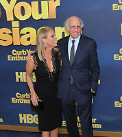 www.acepixs.com<br /> <br /> September 27 2017, New York City<br /> <br /> Actors Cheryl Hines and Larry David arriving at the premiere of Season 9 of 'Curb Your Enthusiasm' at the SVA Theater on September 27, 2017 in New York City. <br /> <br /> By Line: William Jewell/ACE Pictures<br /> <br /> <br /> ACE Pictures Inc<br /> Tel: 6467670430<br /> Email: info@acepixs.com<br /> www.acepixs.com