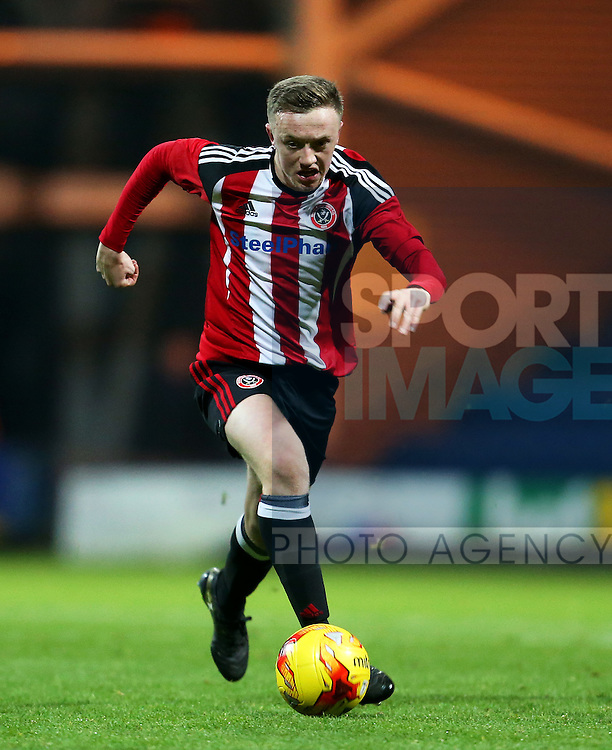 Jordan Hallam of Sheffield Utd during the FA Youth Cup 3rd Round match at Deepdale Stadium, Preston. Picture date: November 30th, 2016. Pic Matt McNulty/Sportimage