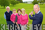 Denis Crowley Kenmare Golf Captain practise's his swing at the majestic Kenmare Golf Club l-r: Harry Masterson, Noreen Crowley, Angela Cronin and Stephanie Gaine....