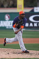 Houston Astros pitcher Wesley Wright (53) delivers a pitch to the plate against the Miami Marlins during a spring training game at the Roger Dean Complex in Jupiter, Florida on March 12, 2013. Houston defeated Miami 9-4. (Stacy Jo Grant/Four Seam Images)........