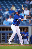 Tulsa Drillers center fielder Alex Verdugo (9) at bat during a game against the Arkansas Travelers on April 25, 2016 at ONEOK Field in Tulsa, Oklahoma.  Tulsa defeated Arkansas 4-3.  (Mike Janes/Four Seam Images)