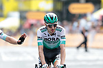 Emanuel Buchmann (GER) Bora-Hansgrohe crosses the finish line at the end of Stage 1 of the 2019 Tour de France running 194.5km from Brussels to Brussels, Belgium. 6th July 2019.<br /> Picture: Colin Flockton | Cyclefile<br /> All photos usage must carry mandatory copyright credit (© Cyclefile | Colin Flockton)