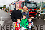 Finbarr and Trish Donovan with their children Ned, Billy and Tom  from Killarney at the Live Demonstration by Kerry Fire and Rescue Service at Deerpark Shopping Centre Killarney. Demonstration took place to highlight National Fire Safety Week.
