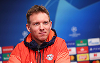 9th March 2020, Red Bull Arena, Leipzig, Germany; RB Leipzig press confefence and training ahead of their Champions League match versus Tottenham Hotspur on 10th March 2020;  Trainer Julian Nagelsmann, RB Leipzig
