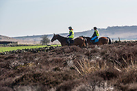 Horse riding at Baslow Edge, Derbyshire.
