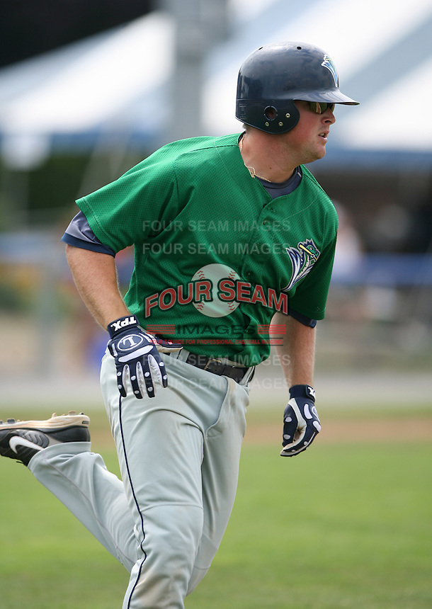 2007:  Bill Rhinehart of the Vermont Lake Monsters, Class-A affiliate of the Washington Nationals, during the New York-Penn League baseball season.  Photo by Mike Janes/Four Seam Images