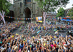 The Netherlands, Utrecht, 05-07-2015, First Stage, Eerste etappe, under the DOMtower/onder de DOM  door Utrecht Tour de France 2015 photo © Michael Kooren/ Utrecht/ the Netherlands