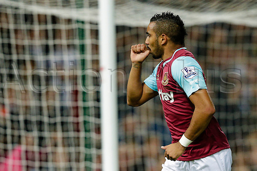 14.09.2015. London, England. Football - Barclays Premier League. West Ham versus Newcastle United.  West Ham United's Dimitri Payet celebrates scoring the opening goal