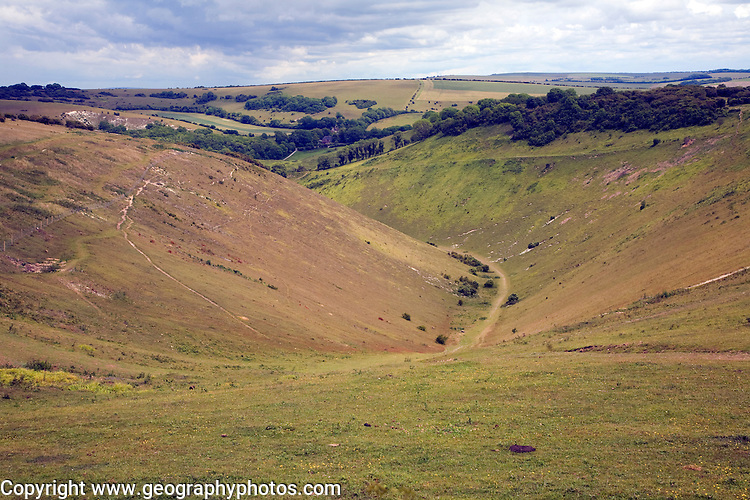 Devil's Dyke chalk dry valley, near Brighton, Sussex, England