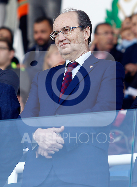 Sevilla FC's President Jose Castro during La Liga match. October 15,2016. (ALTERPHOTOS/Acero)