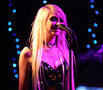 Taylor Momsen star of the television program Gossip Girl performs with her band The Pretty Reckless at the Otto Bar in Baltimore, Md. March 16, 2011..Copyright EML/Rockinexposures.com.