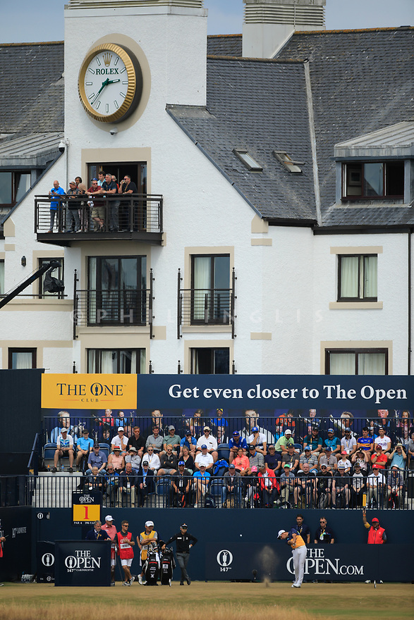 Lucas Herbert (AUS) during the first round of the 147th Open Championship played at Carnoustie Links, Angus, Scotland. 19/07/2018<br /> Picture: Golffile | Phil Inglis<br /> <br /> All photo usage must carry mandatory copyright credit ©Phil INGLIS)