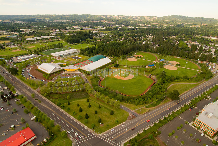 Aerial of the Tualatin Hills Howard M. Terpenning Recreation Complex, Oregon