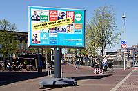 Nederland Zaanstad - april 2019.  Tekst op een verkiezingsbord: Bedankt voor uw stem. Stem ook 23 mei voor het Europees Parlement   Foto Berlinda van Dam / Hollandse Hoogte