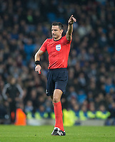 Referee Slavko Vincic during the UEFA Champions League GROUP match between Manchester City and Celtic at the Etihad Stadium, Manchester, England on 6 December 2016. Photo by Andy Rowland.