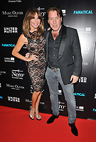 """LONDON, ENGLAND - SEPTEMBER 05: Elizabeth """"Lizzie"""" Cundy and Jeremy Gordeno at the """"Fanatical"""" world film premiere, The Troxy, Commercial Road on Thursday 05 September 2019 in London, England, UK. <br /> CAP/CAN<br /> ©CAN/Capital Pictures"""
