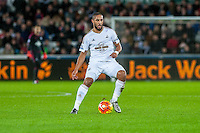 Ashley Williams of Swansein action during the Barclays Premier League match between Swansea City and West Ham United played at the Liberty Stadium, Swansea  on December 20th 2015