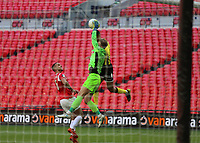 Chris Neal of Salford City collects the ball during AFC Fylde vs Salford City, Vanarama National League Play-Off Final Football at Wembley Stadium on 11th May 2019