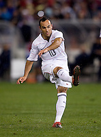 Landon Donovan. The USMNT tied Costa Rica, 2-2, during the FIFA World Cup Qualifier at  RFK Stadium, in Washington, DC.   With the result, the USMNT qualified for the 2010 FIFA World Cup Finals in South Africa.