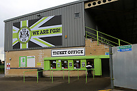 General view of the outside of the Ticket Office at Forest Green Rovers FC near the main entrance during Forest Green Rovers vs MK Dons, Carabao Cup Football at The New Lawn on 8th August 2017