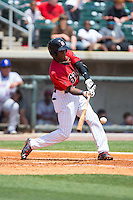 Tim Anderson (7) of the Birmingham Barons at bat against the Tennessee Smokies at Regions Field on May 4, 2015 in Birmingham, Alabama.  The Barons defeated the Smokies 4-3 in 13 innings. (Brian Westerholt/Four Seam Images)