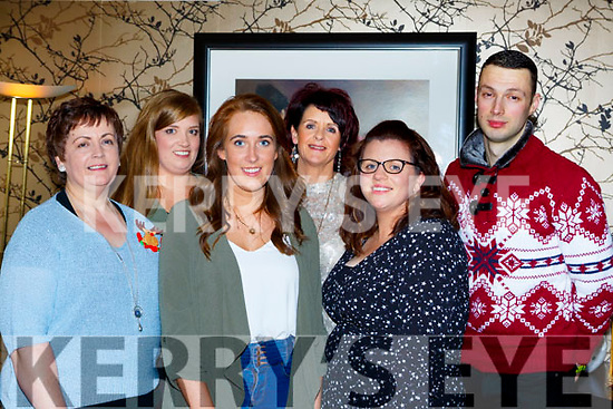 freda Purcel, Grace Concannon, Sinead kelly, Margie Moriarty, Liz Gaynor and John Moynihan who work in St Mary of the Angels Beaufort enjoying their Christmas party in Lord Kenmares restaurant on Saturday night