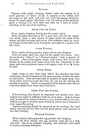 BNPS.co.uk (01202 558833)<br /> Pic:AmberleyPublishing/BNPS<br /> <br /> ***Please Use Full Byline***<br /> <br /> Puddings menu.<br /> <br /> A page from the recipe book, recipes include, apple rings and treacle pudding. <br /> <br /> A cookbook for WWI soldiers has been published for the first time in 100 years revealing the surprising recipes that British Tommies lived on in the trenches.<br /> <br /> Hundreds of thousands of troops were armed with The British Army Cook Book as they headed to off war in 1914.<br /> <br /> The book contained detailed instructions on how to rustle up mouth-watering menus to feed entire platoons using meagre war-time rations.<br /> <br /> The dishes might sound tempting but in reality those on the frontlines would have had to rely more on powdered foods because fresh produce often took too long to reach them.<br /> <br /> The 1914 British Army Cook Book has been reprinted by Amberley Publishing for the first time since it was first issued 100 years ago.<br /> <br /> It is on sale now for &pound;9.99.