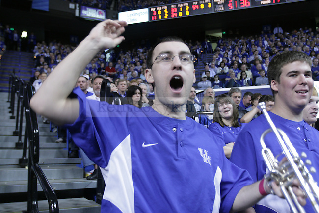 Senior Justin Deptula, yelling for shot at Uk's game against Florida.