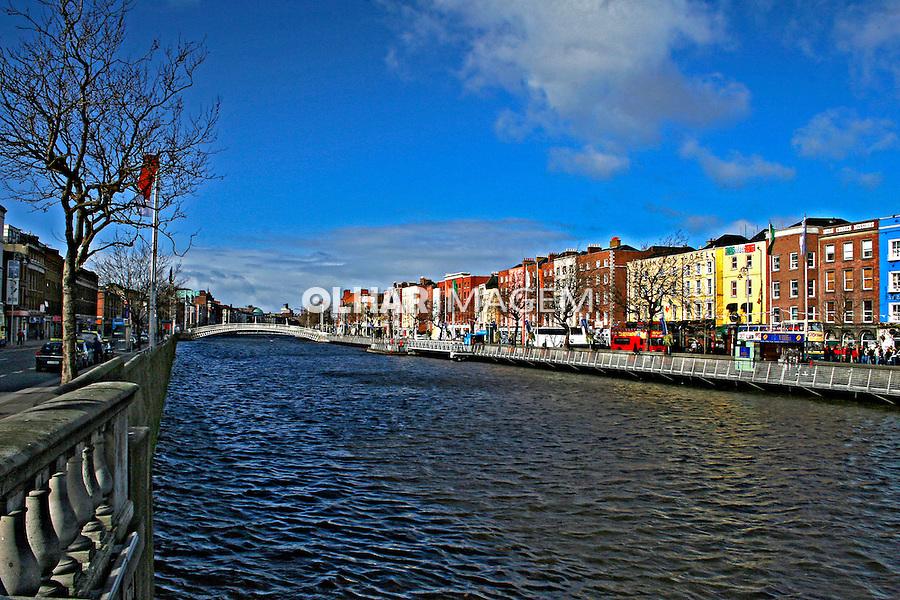 Rio Liffey  em Dublin. Irlanda. 2007. Foto de Marcio Nel Cimatti.
